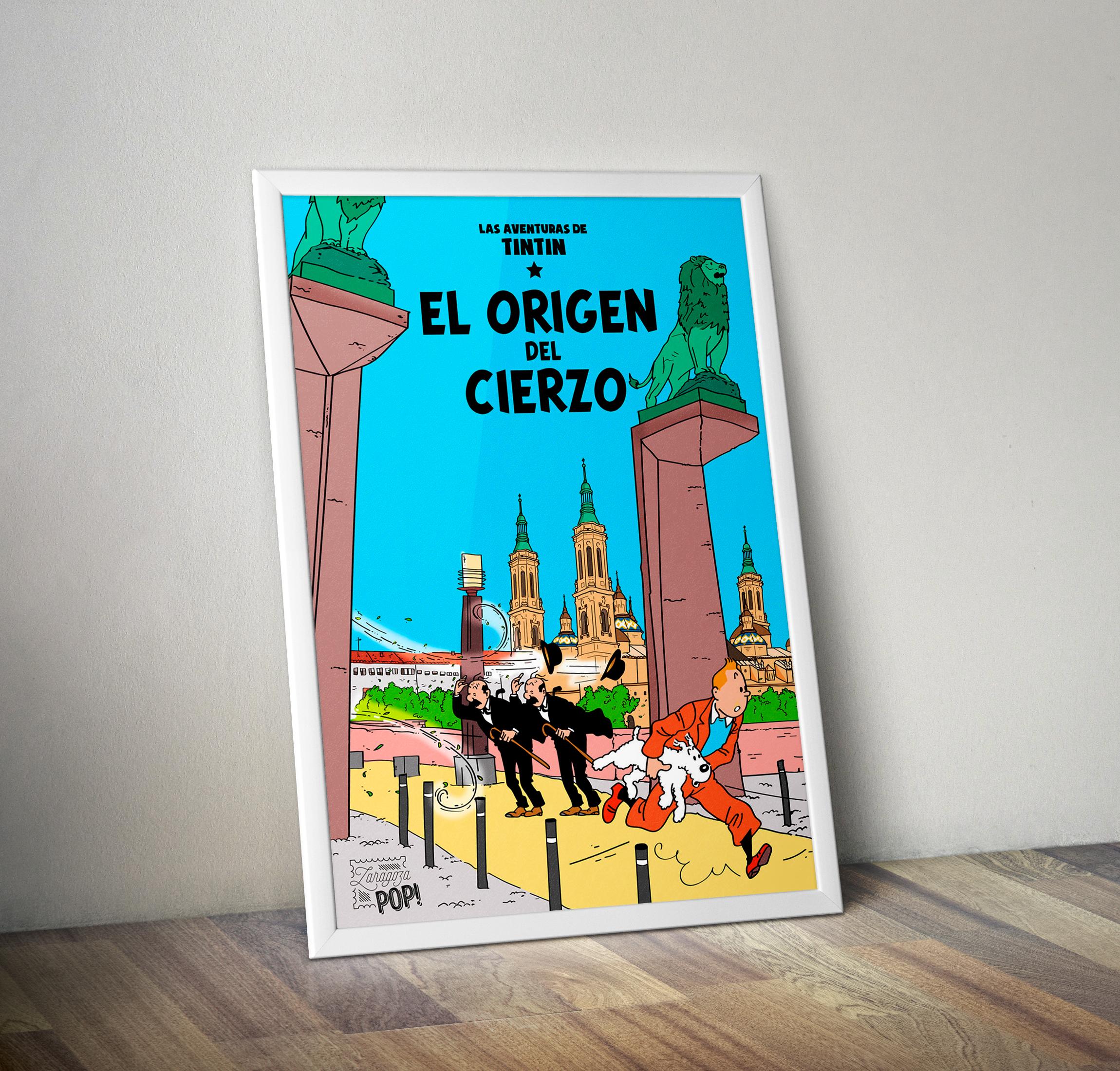 Ilustración de Zaragoza POP de TIntín y el origen del cierzo